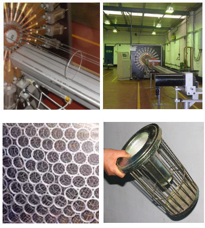 filter, cage, filter bag cages, filter cages,  dust collector, dust extractor, filter inserts, filter pads, filter frames, wire rings,  venturi, venturis, metal spinnings, straight rod, straight wir